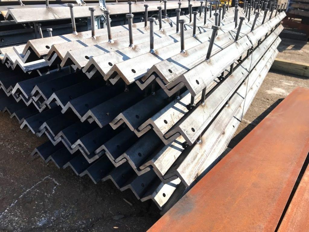 3 x 3 x 1 4 x 120 angle iron embeds galvanized type aa