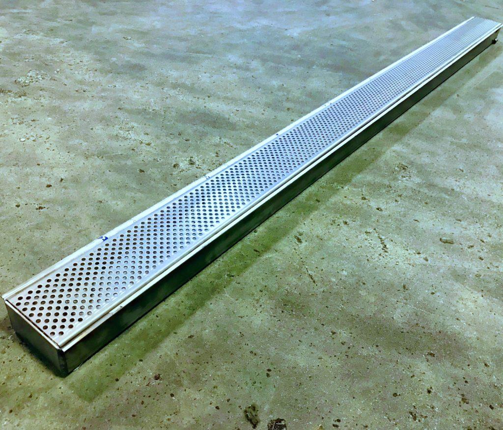 Galvanized Steel Trench Drain System 10ft X 3 Rockcrete