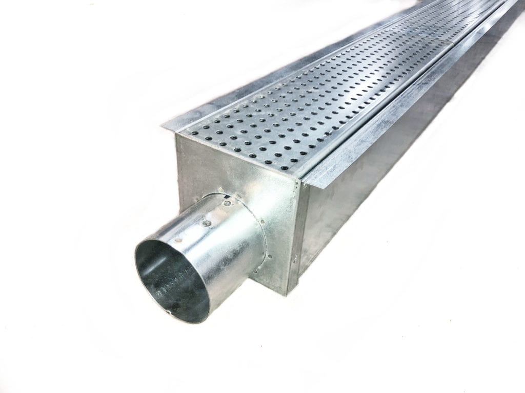 Galvanized Steel Trench Drain System 10ft X 3 Rockcrete